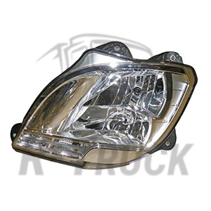 Daf XF E6 head lamp with dipped beam and main beam lamp manual LH e-mark